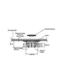 Isotanche Rotaplug bain sortie horizontale