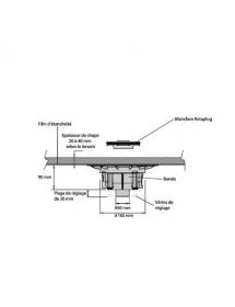 Isotanche Rotaplug bain sortie verticale