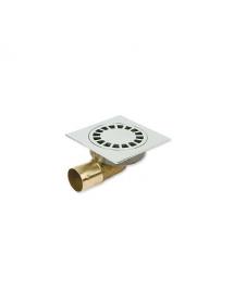 Siphon de sol laiton chromé Solusec 120x120